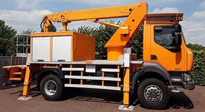 Vrachtwagen hoogtewerker 4×4 huren?